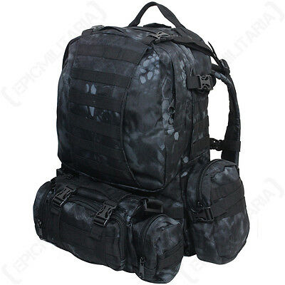a890bcc3c3a8d Mandra Night Camo MOLLE Defense Pack - Rucksack Backpack Bag Army Military  36L