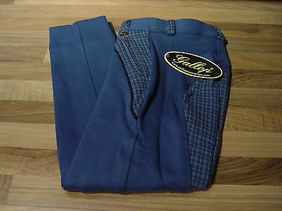 CLEARANCE SALE Gallop Classic Checked Horse Riding Jodhpurs Blue Brown NOW £4.99