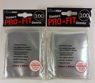 200 Ultra Pro Standard Pro-Fit Sleeves