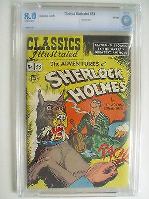 Classics Illustrated #33, HRN 89, Adventures of Sherlock Holmes, CBCS 8.0, OW/W
