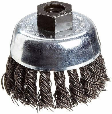 "Weiler 36041 Wire Cup Brush, 3"", Partially Twist, Carbon Steel (X0736*B)"