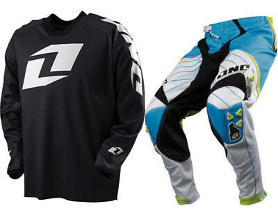 One Industries Motocross Mx Kit Defcon Pant Nostalgia + Icon Black White Jersey