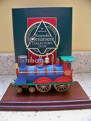 1990 Hallmark Christmas Limited Train Club Member Exclusive Ornament