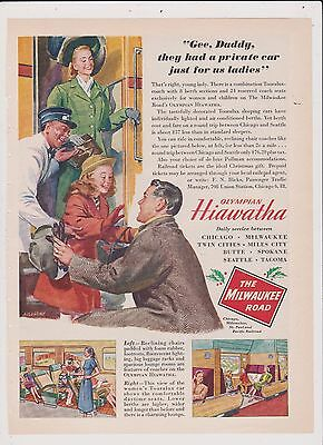 Vintage Milwaukee Railroad Ad -Good For Framing Free Ship