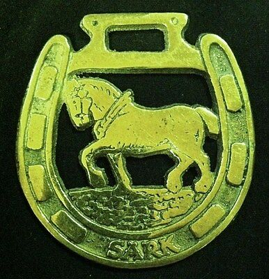 Vintage SARK Island Harness Horse Brass with Heavy Horse England collectible