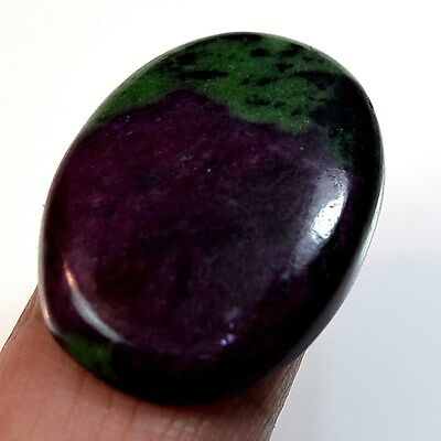 35Ct Natural Ruby in Zoisite (29mm X 20mm) Cabochon