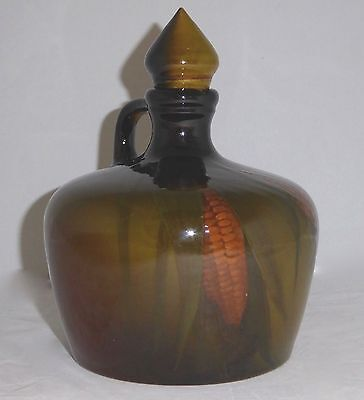 "ROOKWOOD 2-Piece WHISKEY JUG w/STOPPER+HANDLE.Standard G. SIGNED a.m.b. 8""T.1897"