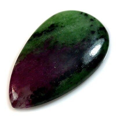 58Ct Natural Ruby in Zoisite (45mm X 25mm) Cabochon