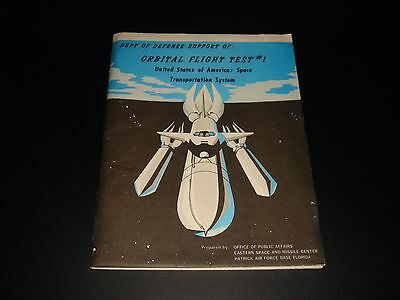 Vtg Official Nasa/dod Sts-1 Orbital Test Info Folder + Pics & Press Releases