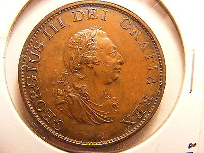 Great Britain 1/2 Penny, 1799, UNCIRCULATED