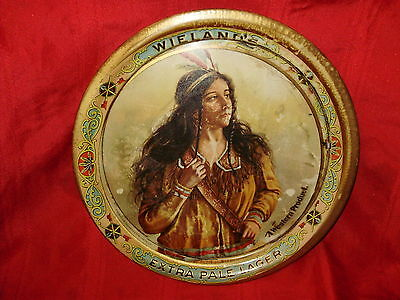 WIELAND'S EXTRA PALE LAGER (SAN FRANSISCO) - Early Tin Lithograph Tray - 1900