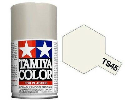 Tamiya TS-45 Pearl White Spray Paint Can 3 oz 100ml Mid America