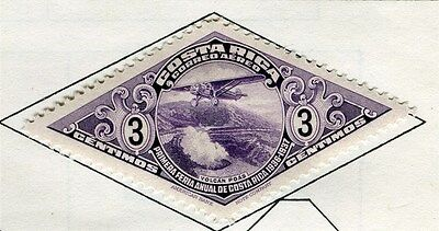 COSTA RICA;  1937 early AIR issue Mint hinged 3c. value