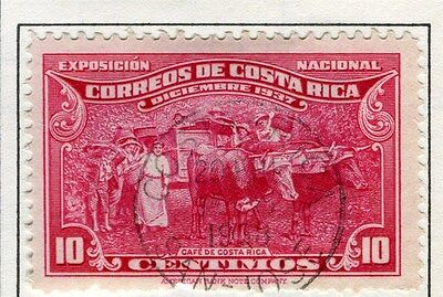 COSTA RICA;  1937 early San jose issue fine used 10c. value