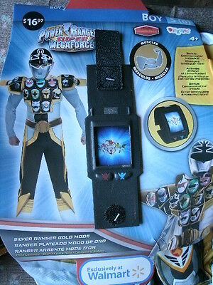 POWER RANGERS SUIT/COSTUME *SILVER RANGER* gold mode boy S 6 NEW W/PKG