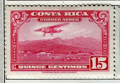 COSTA RICA;  1934 early AIR issue fine Mint hinged 15c. value
