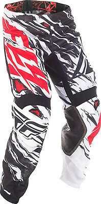 Fly Racing Kinetic Mesh Relapse Pants / Black/White/Red - All Sizes