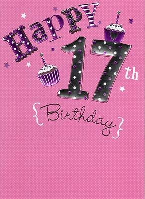 Happy 17th Birthday Foiled Greeting Card Second Nature Cards