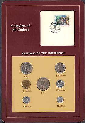 {BJSTAMPS} Coin Sets of All Nations Republic of the Philippines BU 1983-1984
