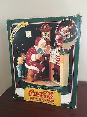 Coke Coca Cola Santa Claus Mechanical Bank 1995 Ertl Metal 3rd in Series MIB