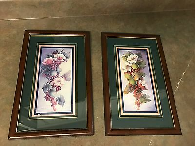 Set Of 2 Home Interiors Magnolia And Fruit Pictures