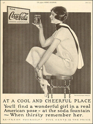 1925 print Ad for Coca Cola 5 cents ! Rare old Coke Ad in perfect shape 050817