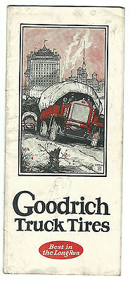 Old Advertising Brochure GOODRICH TRUCK TIRES Acme Tire Store Johnstown PA