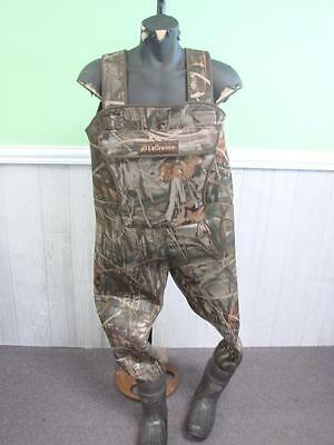 Men's LaCrosse Camouflage Chest Waders Thinsulate Neoprene Size 8 Width Medium