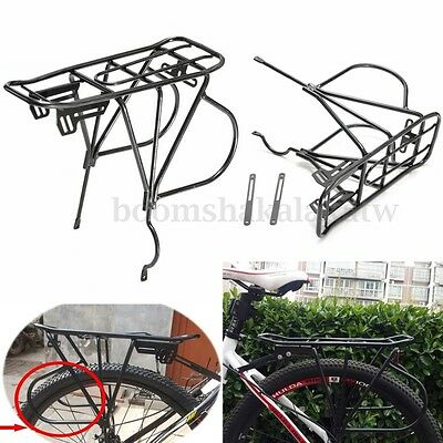 Cycling Bike Alloy Disc Brake Quick Release Rear Rack Carrier Luggage Pannier