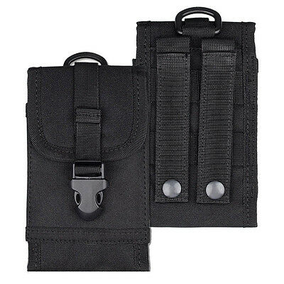 Black Universal Army Tactical Cell Phone Smartphone Waist Pouch Bag Case Cover B
