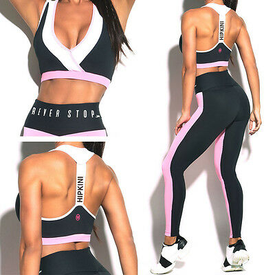 Women Yoga Set Running Bra Pants Gym Workout Fitness Clothes Tights Sport Wear
