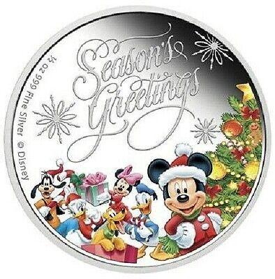 Niue - 1 Dollar 2014 - Disney Season`s Greetings - 1/2 Unze Silber PP in Farbe