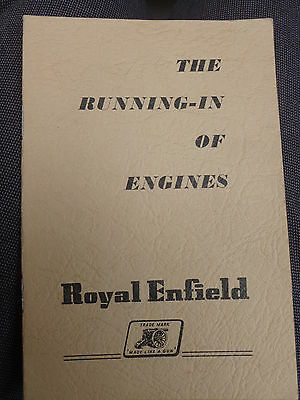 c1957 - The Running in of Engines - Royal Enfield Vintage Instruction Booklet