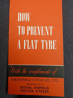 How to Prevent a Flat Tyre - Royal Enfield Cycle Co Ltd Leaflet