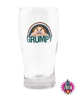 Official Snow White Seven Dwarfs Grumpy Pint Drinking Glass New In Gift Box