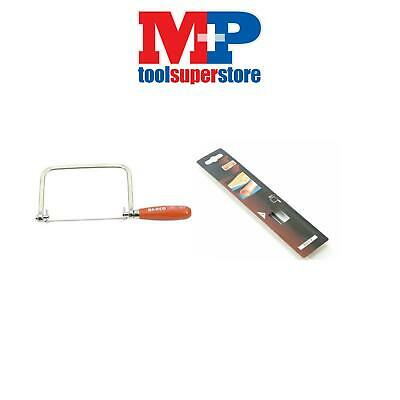 Bahco 301 Coping Saw Frame 165Mm 14Tpi For Cutting Curves + Pack Of 5 Blades