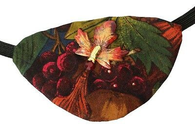 Eye Patch Fall Harvest Maple Leaf Red Berries Victorian Steampunk Pirate Fashion
