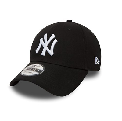 New Era 9FORTY MLB new York Yankees NY Logo Black Curved Peak Hat Baseball  Cap 3f338c4df6dd