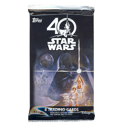 Topps Collectible Trading Cards - Star Wars 40th Anniversary - PACK (8 cards)
