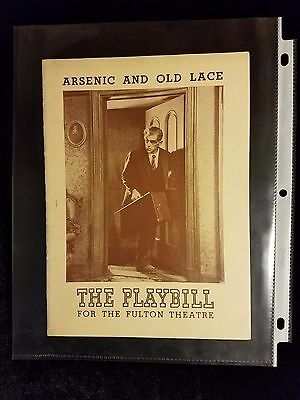 * CLEAN * Playbill Boris Karloff Arsenic And Old Lace 1942 Original Chesterfield