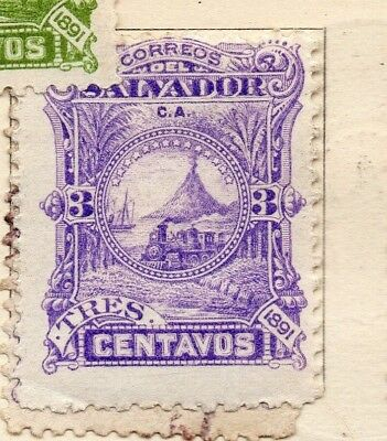 Salvador 1891 Early Issue Fine Mint Hinged 3c. 152564