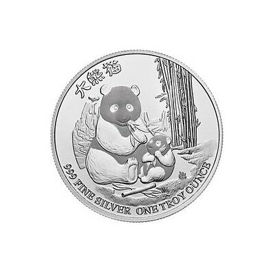 NIUE 2 Dollars Argent 1 Once Panda 2017 - 1 Oz silver coin Chinese Panda