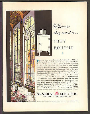 GE General Electric JUNE 1931 REFRIGERATOR Original Print Ad