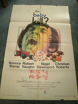 The Mind Of Mr Soames(1970)Terence Stamp Original One Sheet Poster+
