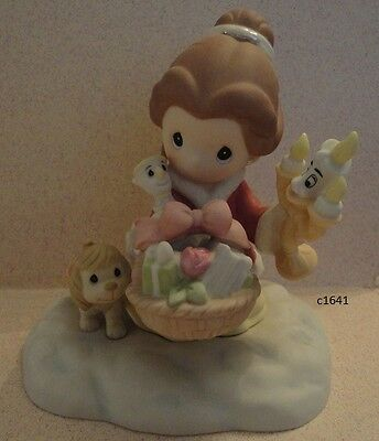Precious Moments Disney IT IS IN THE GIVING Belle Lumiere & Chip Mint in Box