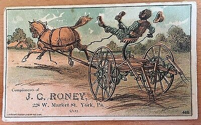 1884 BLACK AMERICANA TRADE CARD J. M. Bufford's Sons CHROMOLITHOGRAPH YORK PA