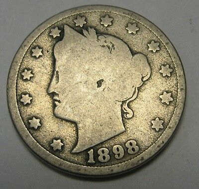 1898 Liberty V Nickel in the GOOD Range A Great Filler Coin DUTCH AUCTION