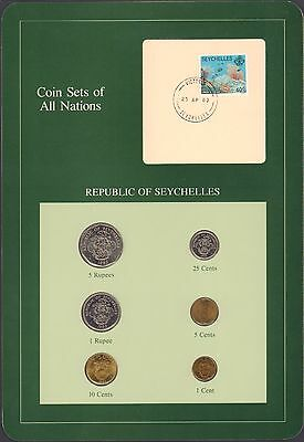{BJSTAMPS} Coin Sets of All Nations Republic of Seychelles BU 1982 Green Card