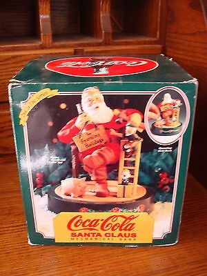 Coke Coca Cola Santa Claus Mechanical Bank 1994 Ertl Metal 2nd in Series NRFB