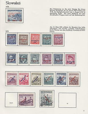 SLOVAKIA 1939-1945 LOVELY COLLECTION NAZI GERMANY OCCUPATION - *MLH*/used